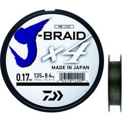 TRESSE DAIWA J BRAID X4 VERT 135M