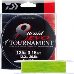 DAIWA TOURNAMENT 8 BRAID EVO CHARTREUSE 135M