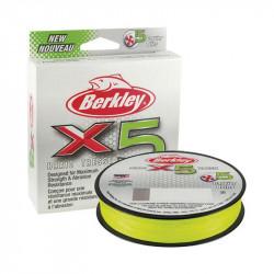Tresse Berkley X5 Braid vert chartreuse 150M