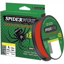 Tresse Spiderwire Stealth Smooth 8 Rouge 150M