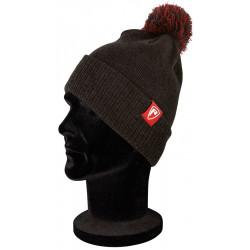 bonnet fox rage bobble hat dark grey marl