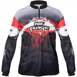 Tee Shirt Manches Longues Homme Fox Rage Performance Top Noir/Rouge